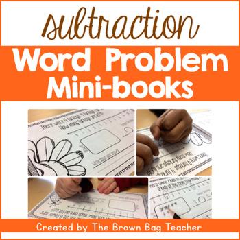 Subtraction Word Problems FREEBIE - November Mini-Book