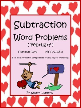 February Subtraction Word Problems