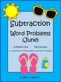 Summer Subtraction Word Problems (June)