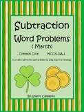 March Subtraction Word Problems