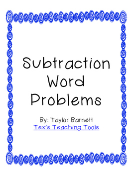 Subtraction Word Problems (Missing Digit)