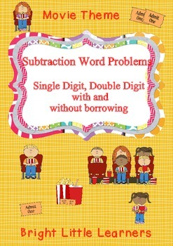 Subtraction Word Problems - Movie Theme
