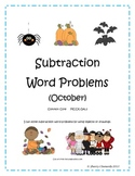October Subtraction Word Problems