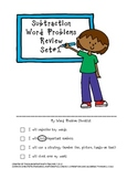 Subtraction Word Problems Review Set #1