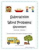 September Subtraction Word Problems