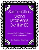 Subtraction Word Problems - Within 10