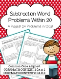 Subtraction Word Problems Within 20