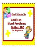 Subtraction Word Problems for Beginners: 2-Digit (No Borro