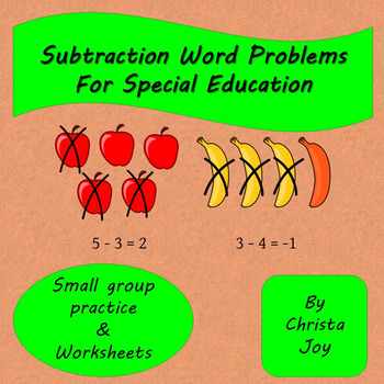 Subtraction Word Problems for Special Education