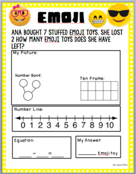 Subtraction Word Problems up to 10