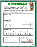 REAL LIFE SUBTRACTION Word Problems up to 10 (EDITABLE and PDF)