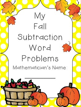 Subtraction Word Problems with a Fall Theme