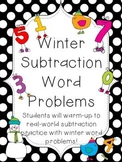 Subtraction Word Problems with a Winter Theme