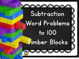 Subtraction Word Problems within 100 Timber Blocks (Jenga OR Board Game)