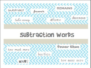 Subtraction Words