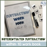 Subtraction Work Books- Differentiated in THREE Levels, Within 20