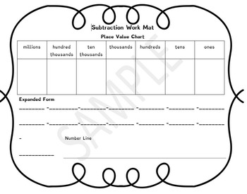 Subtraction Work Mat