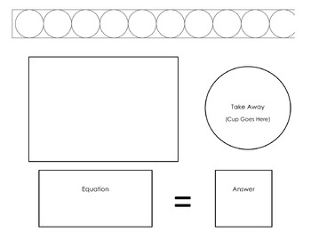 Subtraction Work Mat and Cards