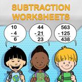 Subtraction Worksheet Maker - Create Infinite Math Worksheets!