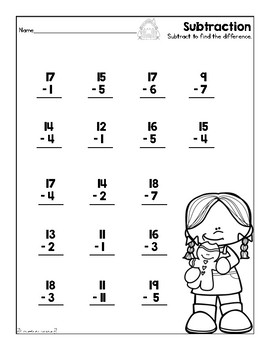 subtraction worksheet decembergingerbread by first grade fanatics