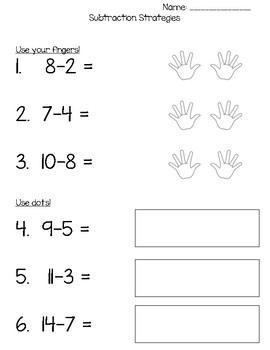 Subtraction Worksheet: Multiple Strategies