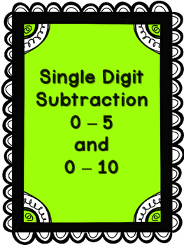 Subtraction Worksheets 0-5 and 0-10