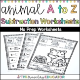 Subtraction Worksheets to 10