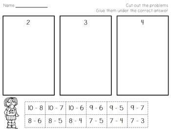 Subtraction Printables