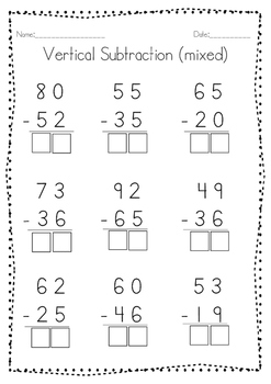 Subtraction Worksheets!