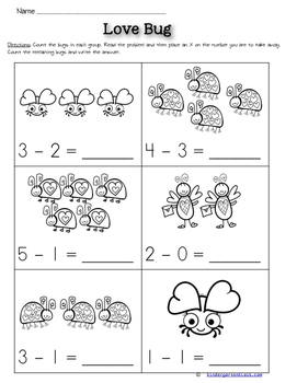 Subtraction Worksheets: February