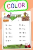Subtraction Worksheets! Level 2 of 5. Color & Blacklines with Answer Key