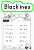 Subtraction Worksheets! Level 3 of 5. Color & Blacklines w