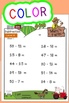 Subtraction Worksheets! Level 4 of 5. Color & Blacklines with Answer Key