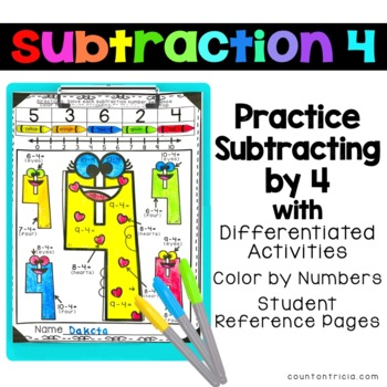 Subtraction Worksheets Minus 4