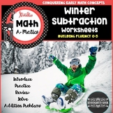 Subtraction Worksheets Kindergarten Winter Themed