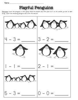 Winter Themed Math Worksheets Kindergarten