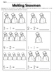 Subtraction Worksheets Kindergarten Winter Themed