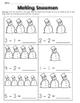 Subtraction Worksheets: Winter