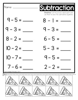 Subtraction Worksheets With Counters