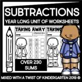 Subtraction Worksheets | Year Long | Kindergarten