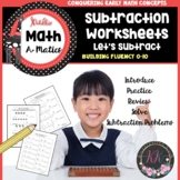 Subtraction Worksheets for Kindergarten