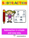 subtraction practice - math for 1st graders - one 1-digit