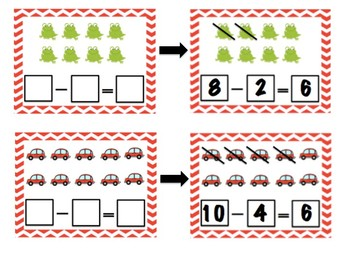 Subtraction Write & Wipe Cards
