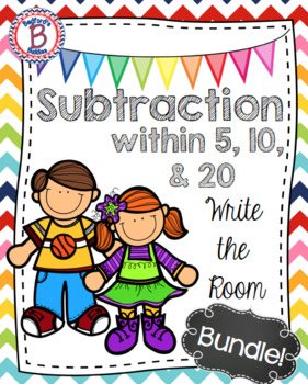 Subtraction Write the Room Bundle