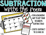 Subtraction Write the Room - Subtraction Bugs - Spring Subtraction