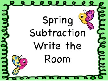 Subtraction Write the Room or Task Cards