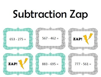 Subtraction Zap