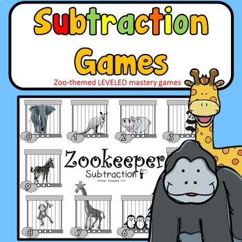 Subtraction Facts Games Kindergarten 1st 2nd Grades