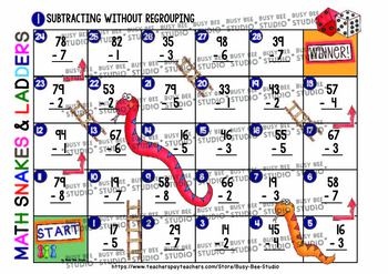 Subtraction and Addition (2 digit) Without Regrouping Games