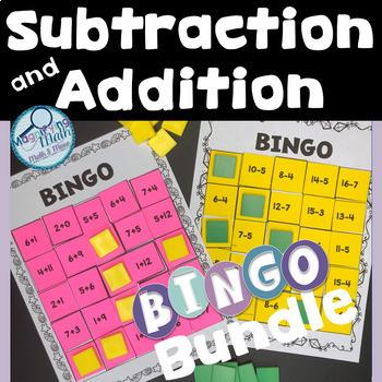 Subtraction and Addition Fact BINGO Bundle